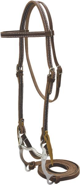 Cowboy Pro Burgundy Bridle With Curb Bit