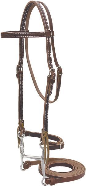 Billy Cook Saddlery Browband Bridle With Tom Thumb Bit