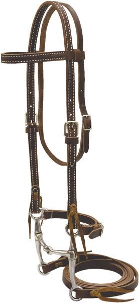 Billy Cook Saddlery Pony Bridle With Tom Thumb Bit