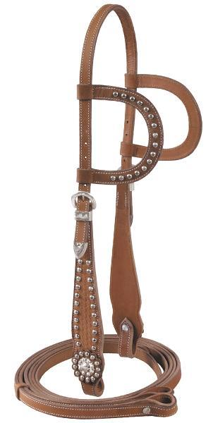 Cowboy Pro Double Ear Headstall With Reins