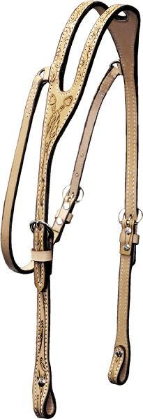 Billy Cook Saddlery Ear Headstall - Oakleaf & Acorn Tooled