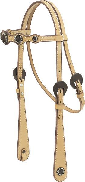 Cowboy Pro Show Brow Headstall