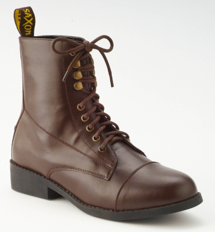 Saxon Equileather Childs Lace Boots