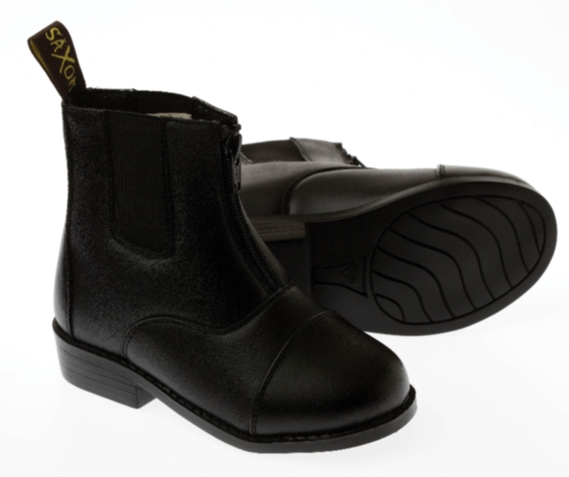 Saxon Equileather Zip Front Childs Boots