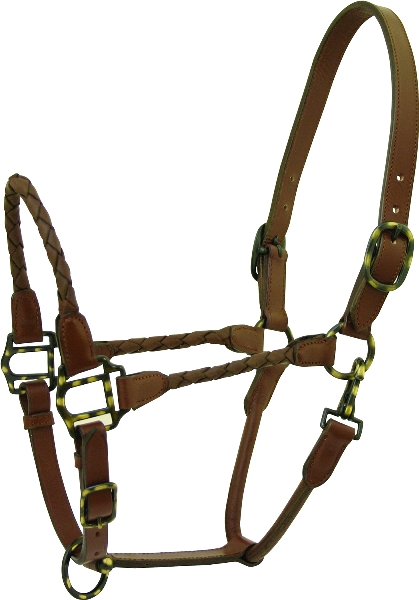 Braided Leather Show Halter