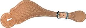 Abetta Tooled Spur Straps