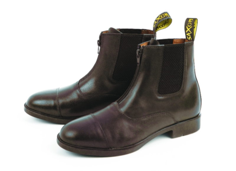 Saxon Action Leather Zip Front Ladies Paddock Boots