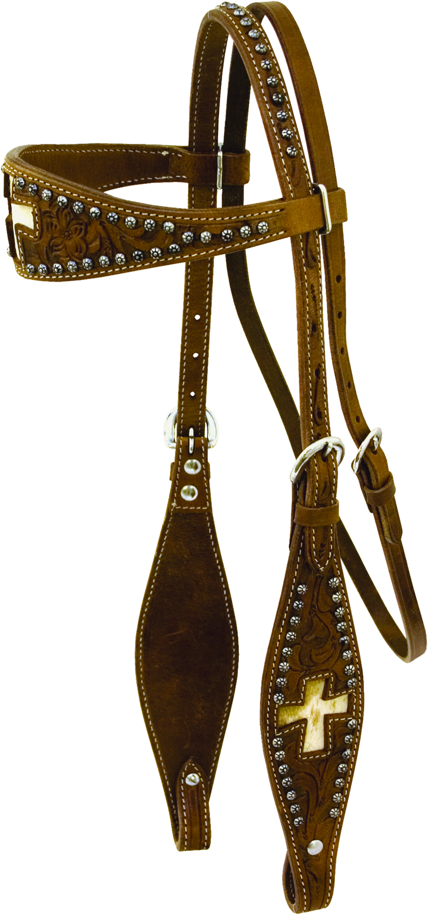 Cowboy Pro bridle with Hair-On with Reins