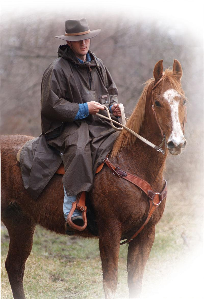 Outback Trading Oilskin Packable Poncho