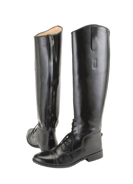 Tough-1 Ladies Zip-Up Leather Field Boots