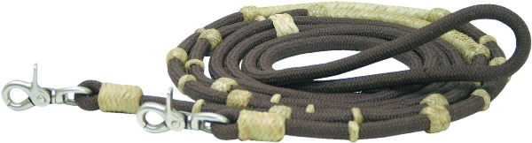 Nylon Knotted Extra Long Trail Reins Reins