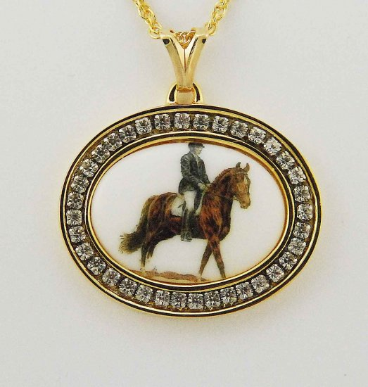 Finishing Touch Finishing Touch 25 X 18Mm Cab With Para Dressage Horse In Channel Set Cry Gold
