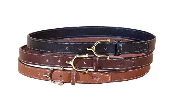 "TORY LEATHER 1"" Belt with Spur Buckle"