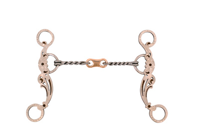 Metalab Antique Floral Snaffle Gag Bit