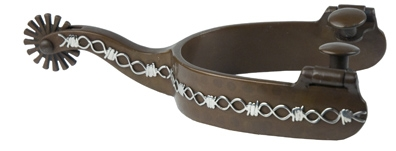 Metalab Cowboy Collection Mens Spurs - Barb Wire Design