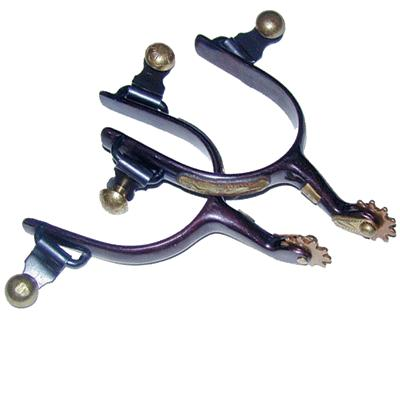 Coronet Black Steel Men's Roping Show Spur