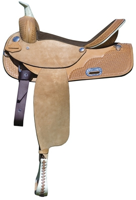 Circle P Leather Barrel Saddle