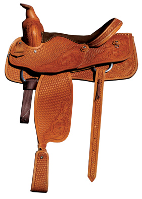 Circle P Rancher Hand Tooled Leather Saddle