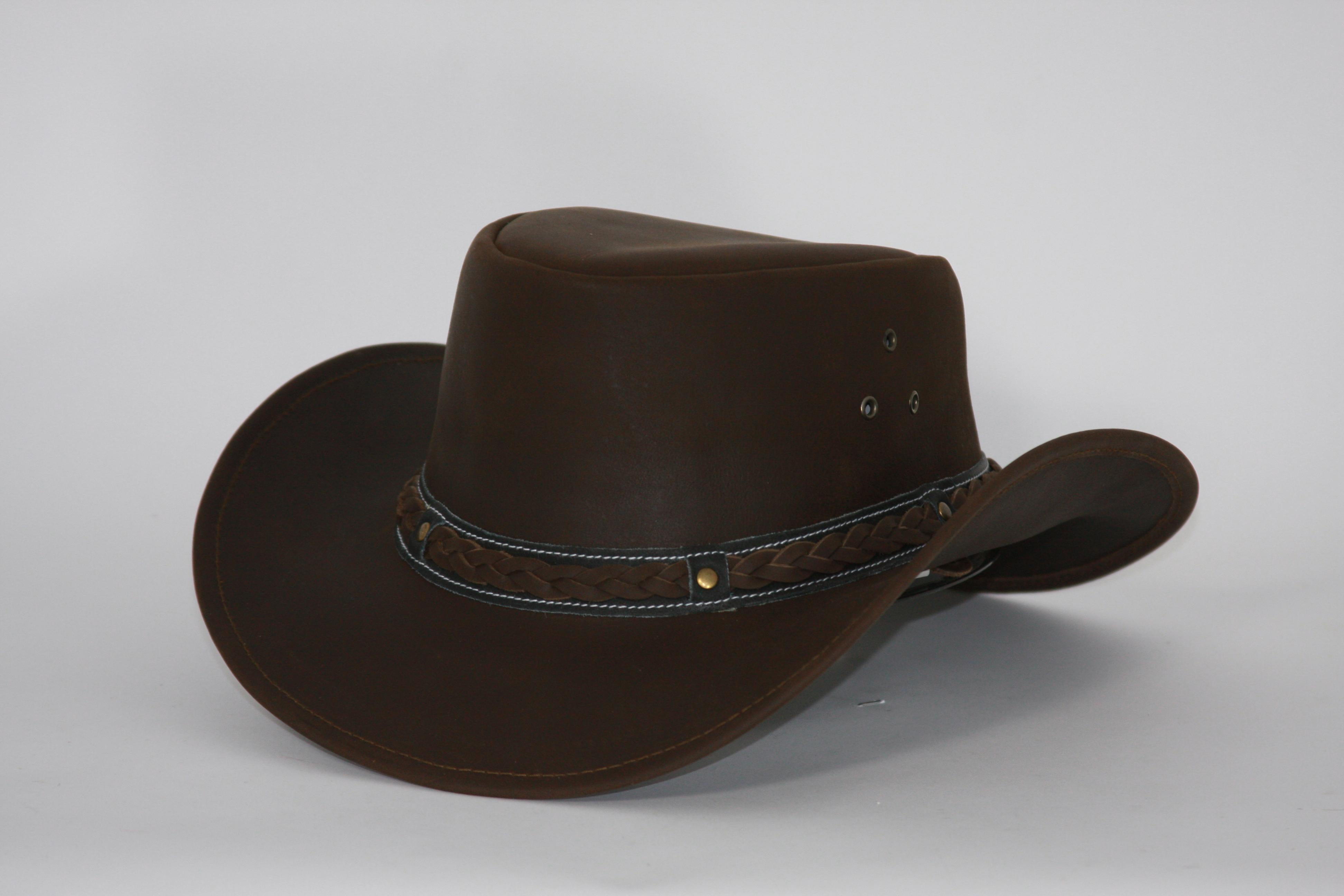 Outback Trading Wagga-Wagga Leather Hat