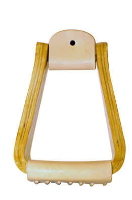"Metalab Roger Branch 4"" Wooden Roping Stirrups"