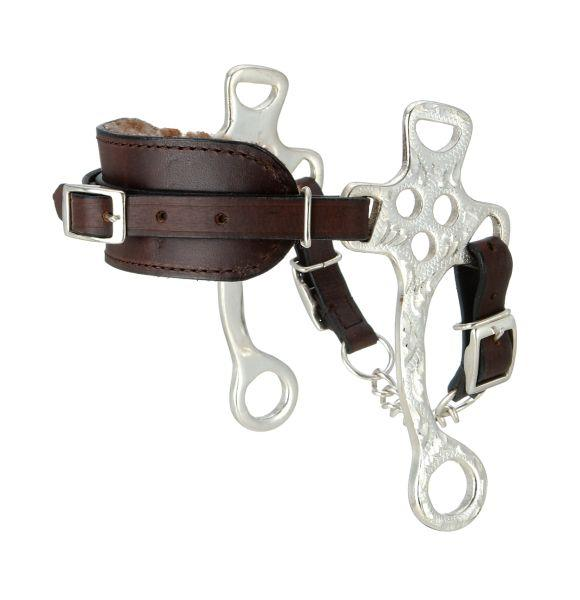 Kelly Silver Star Fleece Lined Silver Hackamore