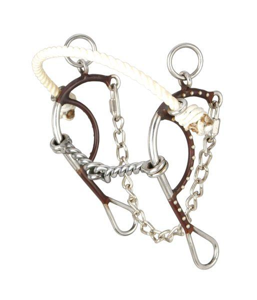 Kelly Silver Star Hackamore Twisted Snaffle with Dots