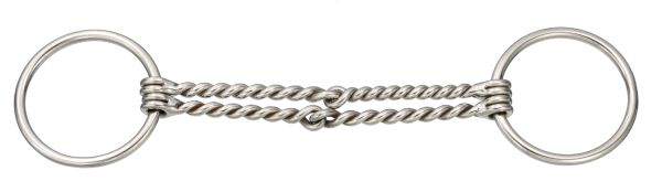 Kelly Silver Star Stainless Steel Double Twisted Wire Ring Snaffle