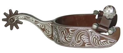 Metalab Antique Floral Engraved Spur