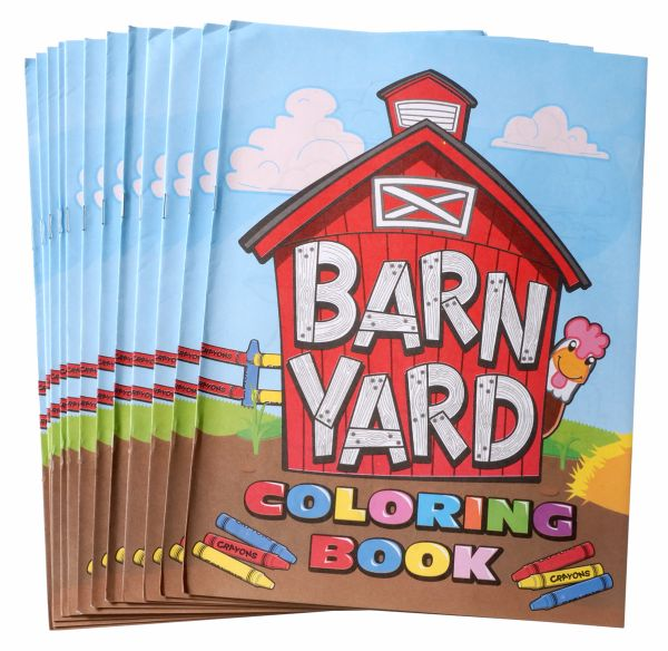 Gift Corral 12 Pack - Barn Yard Coloring Books