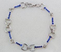 Finishing Touch Stone Snaffle Bit Bracelet - Sapphire