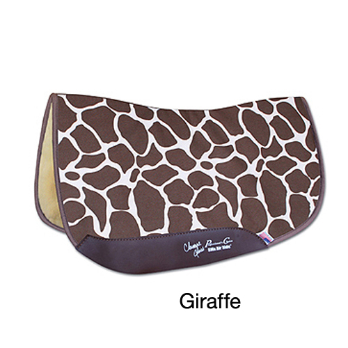 Professionals Choice Charmayne James SMX Square Barrel Saddle Pad - Giraffe