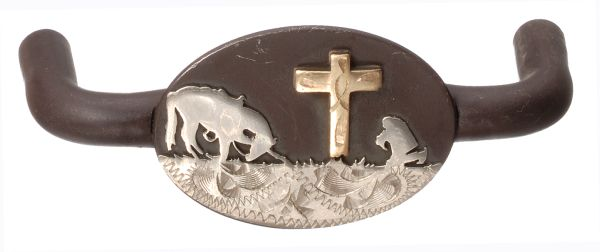Cowboy Cross Double Drawer Pull