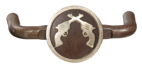 Crossed Pistols Double Drawer Pull