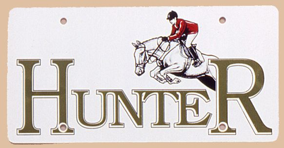 Hunter Jumpers Plastic License Plate