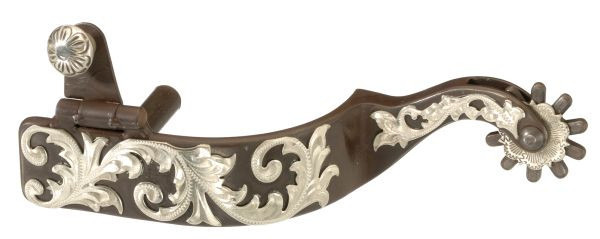 Antique Brown Floral Spur Double Drawer Pull