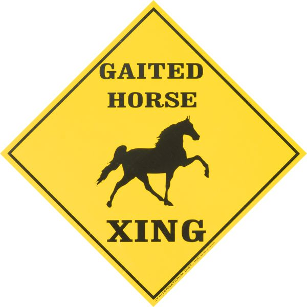 Horse Crossing Sign Horse Xing Gaited Caution Sign