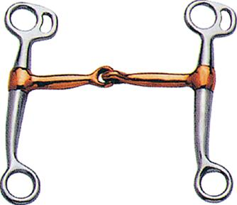 Sta-Brite Chrome Plated Tom Thumb Snaffle with Copper Mouth