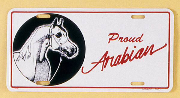 Gift Corral Aluminum License Plate - Arabian