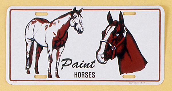 Gift Corral Aluminum License Plate - Paint Horse