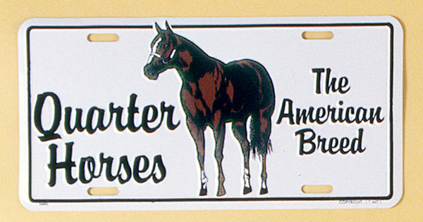 Gift Corral Aluminum License Plate Quarter Horse