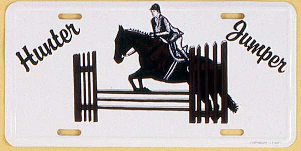 Gift Corral Aluminum License Plate - Hunter/Jumper