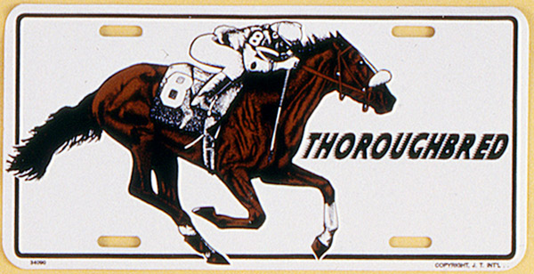 Gift Corral Aluminum License Plate - Thoroughbred