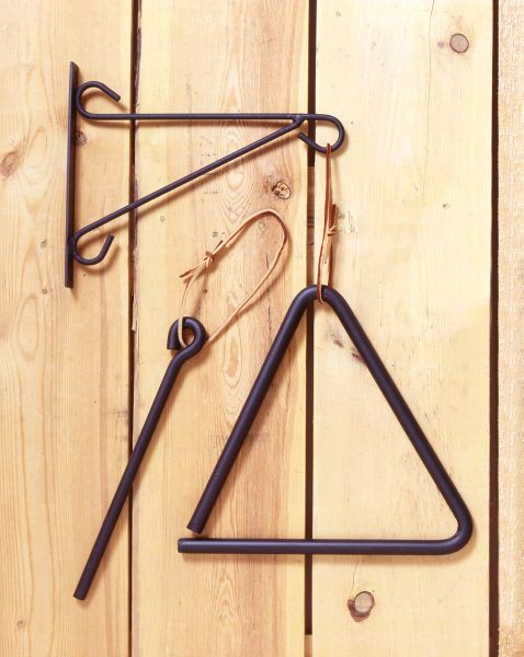 Large Metal Triangle Chime with Bracket