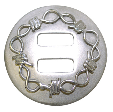 Metalab Stainless Steel Brushed Barb Wire Slot Concho