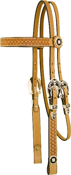Saddlesmith Of Texas Basket Tooled Headstall