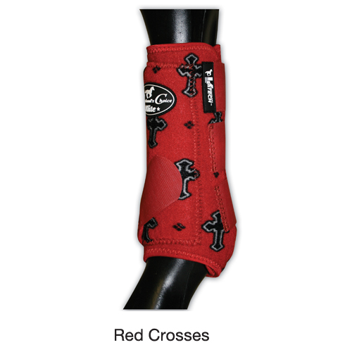 Professionals Choice VenTECH Elite Sports Medicine Boot - Front - Red Crosses
