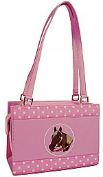 Horse Head Embroidered Handbag