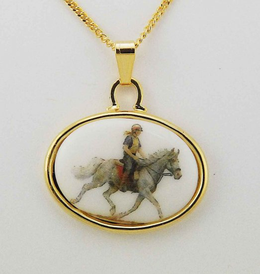Finishing Touch Finishing Touch 25 X 18Mm Cab With Endurance Horse In Gold Frame