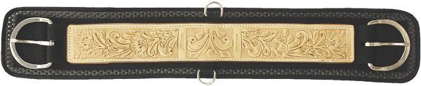 Abetta Neoprene Girth With Leather Overlay