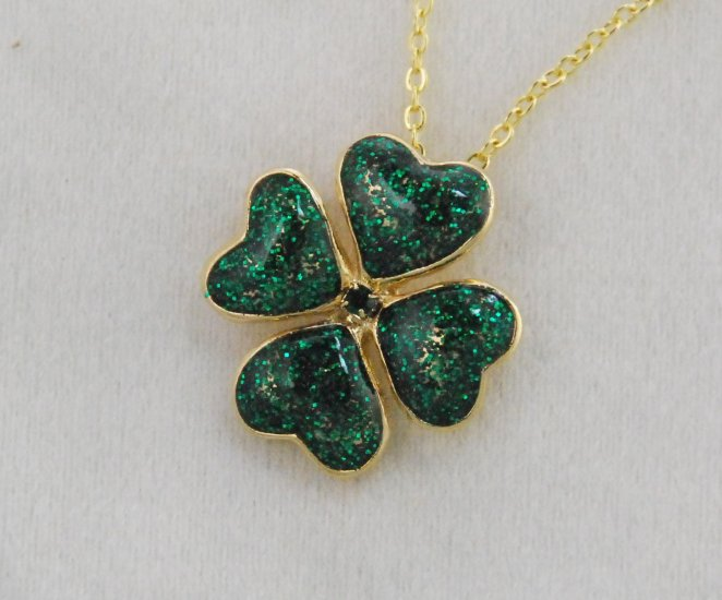 Finishing Touch Finishing Touch Four Leaf Clover Necklace - Gold